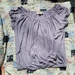 Tops - Anthropologie Lilac Peasant Blouse Like New